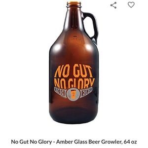 Beer growler with lid no gut no glory